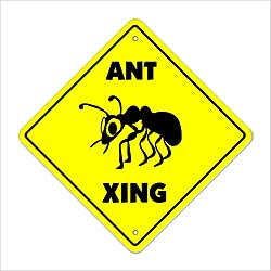 Ant Crossing Sign