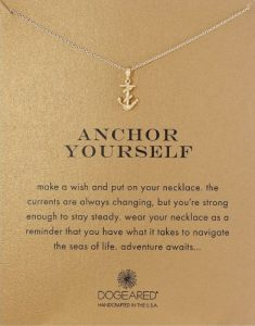 Dogeared Anchor Yourself Pendant Necklace