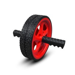 Fitness roller wheel with a grip