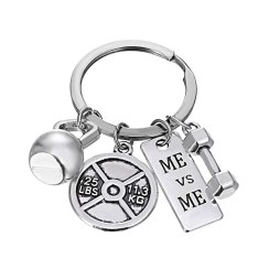 Keychain with fitness charms